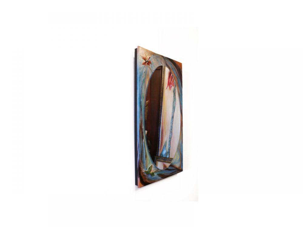 Conception cuir oeuvre miroir chicago conception cuir for Miroir en ligne