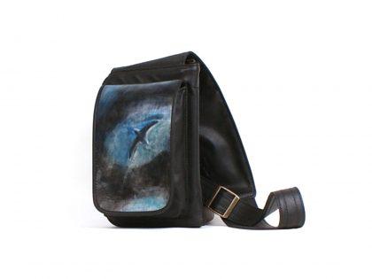 Le trotteur,sac à main noir avec bandoulière ajustable